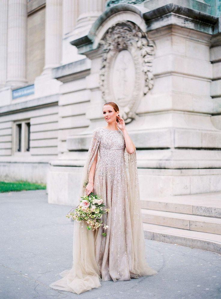 Glamorous Parisian Elopement in a Sequin Gown by Le Secret d'Audrey | Wedding Sparrow