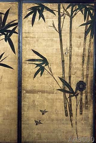 Maruyama Ozui - Kyoto, Sperlingsraum im Nishi-Honganji-T