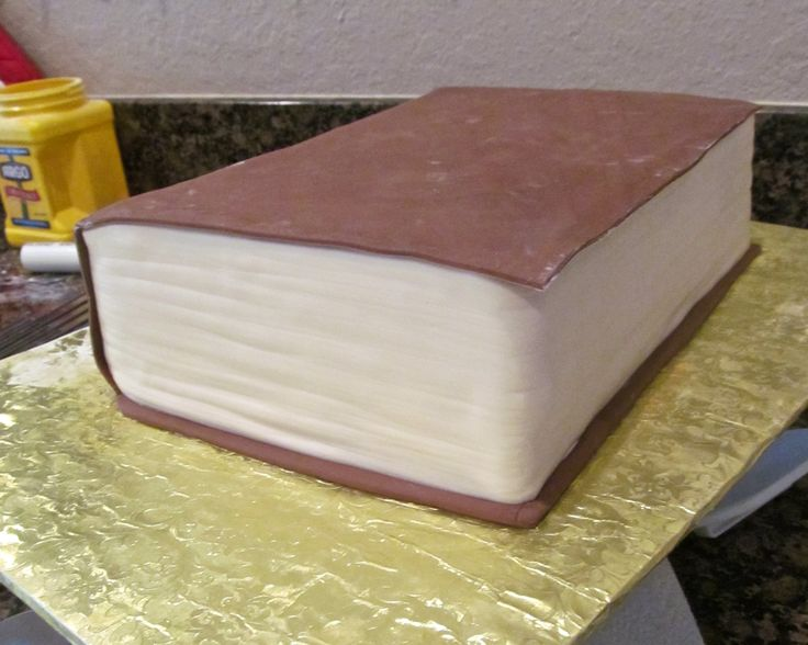 Harry Potter Book Cake Tutorial