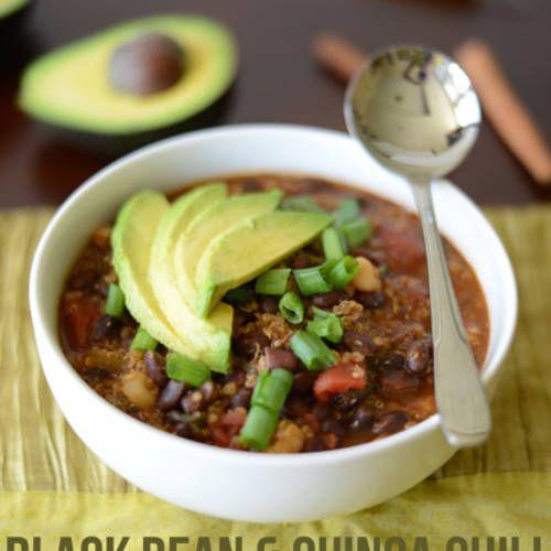 Black Bean and Quinoa Chili: Black Beans Slow Cooker, Blackbean ...