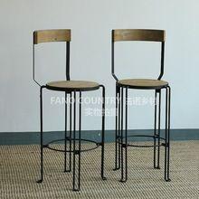Французский дачная мебель скидка лофт американский стиль из твердой древесины обеденные столы и стулья, Из кованого железа барный стул бар стул , чтобы(China (Mainland))