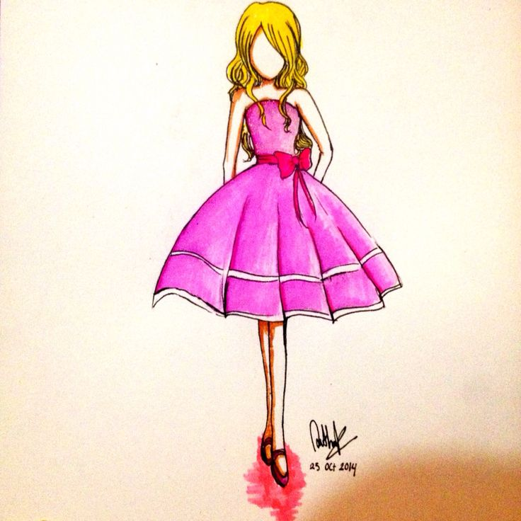 This is my second design | My Fashion Illustration | Pinterest ...