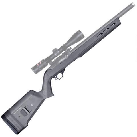 "Magpul Hunter X-22 Stock for Ruger 10/22 .22 LR 0.920"" Diameter Barrels Uses 10/22 Magazines M-LOK Slots Adjustable LOP Polymer…"