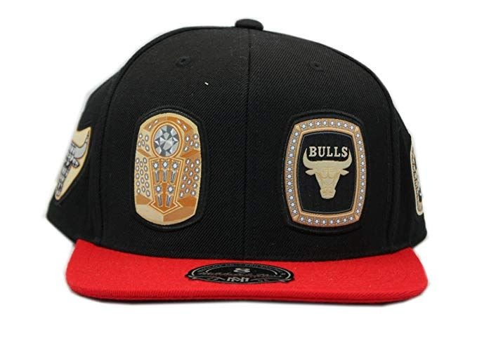 Mitchell Ness Nba Chicago Bulls Rings High Crown Fitted Black With Red Cap Review With Images Nba Chicago Bulls Chicago Bulls Men S Baseball Cap