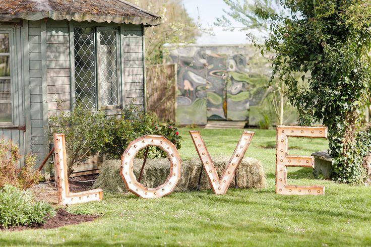 Wooden Love Light Sign