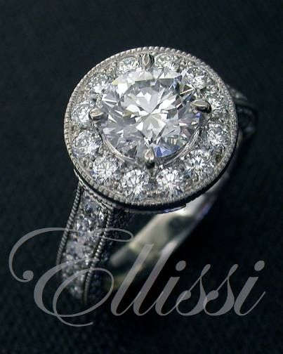 Not looking bad considering the diamond is older than life on the planet! Who said you can't look good in old age ?  Perfectly round, perfectly...perfect! This ring was made at Ellissi with an excellent round cut #brilliant #diamond.