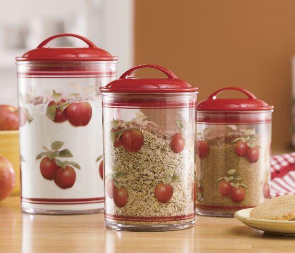 Apple Canister, 3 Piece Set From Ginnyu0027s ®. Apple Kitchen DecorKitchen ...