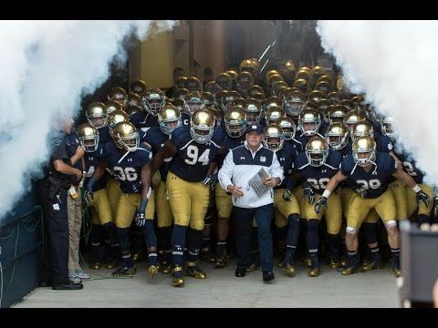 Notre Dame Football Pump UP 2015 2016