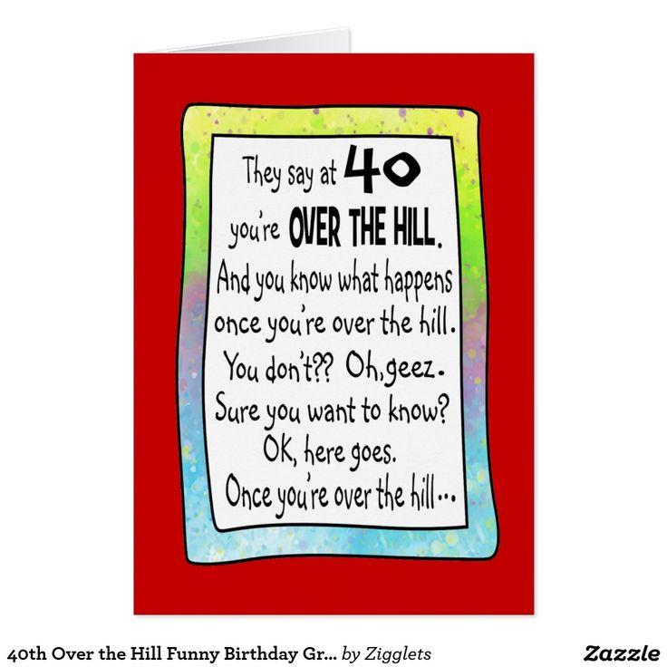 40.o Sobre la tarjeta de felicitación divertida