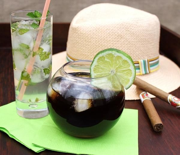 The best way to welcome your guests is with a signature cocktail! Serve up 2 of Cuba's most famous drinks: a Mojito, and a Cuba Libre.