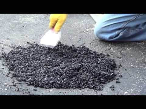 Driveway Pothole Repair - Asphalt Driveway Repair - YouTube
