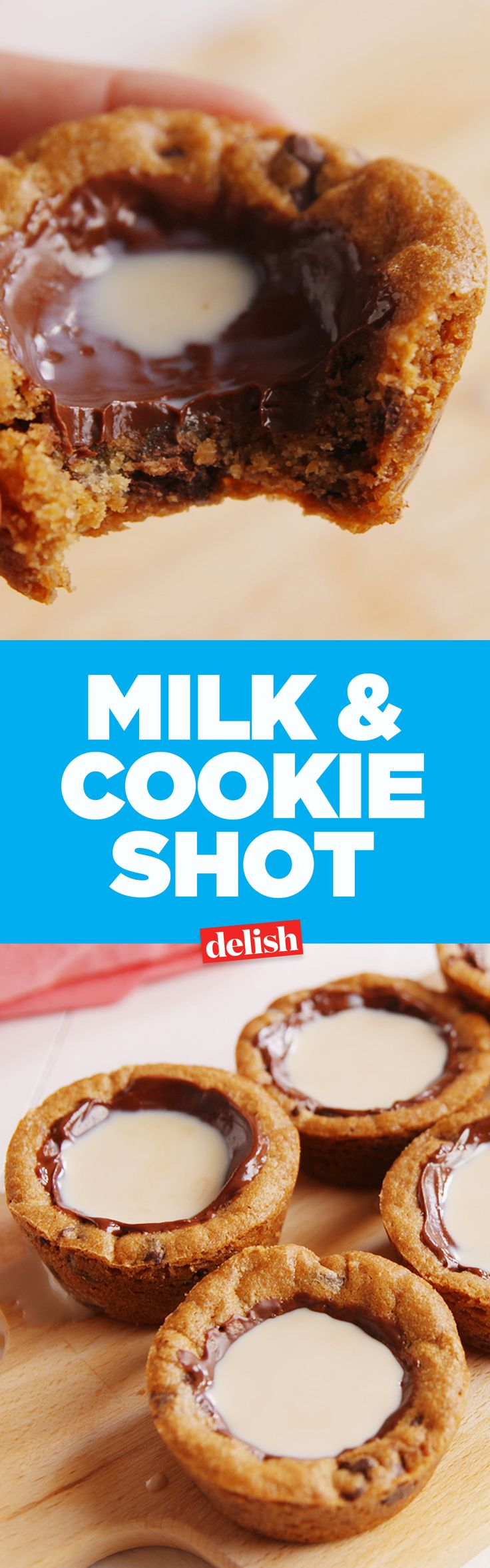 These milk & cookie shots sure do go down easy. Get the recipe on Delish.com.