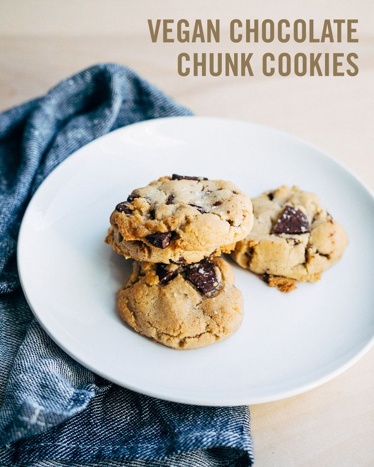 all good chocolate chip cookies, these Vegan Chocolate Chunk Cookies ...