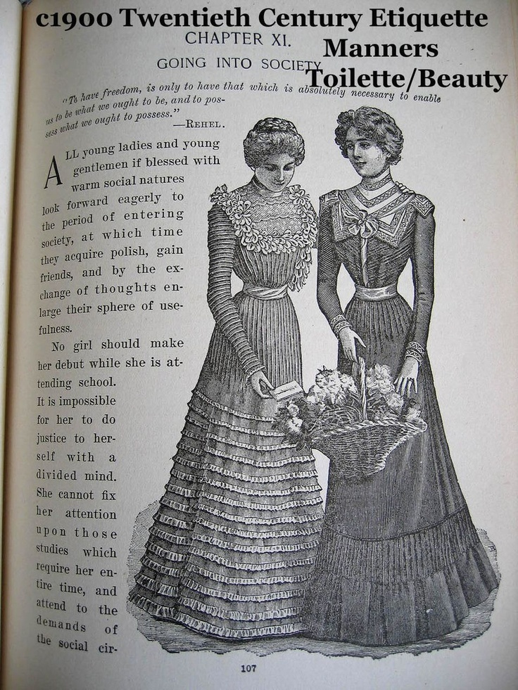 c1900 Twentieth Century Etiquette Book Annie Randall White Bride Toilet Health Manners Dress Fashion Courting Marriage Wedding Costume Palmistry Language of Flowers Color Plates Many Illustrations