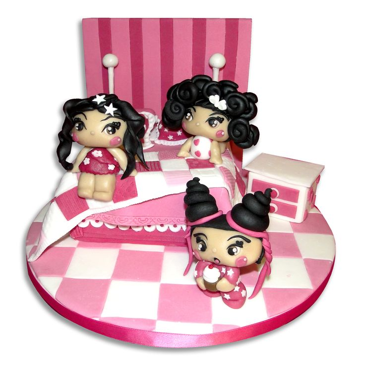 Torta Kawaii cake Pigiama Party https://www.facebook.com/lecupcakesdellamarina