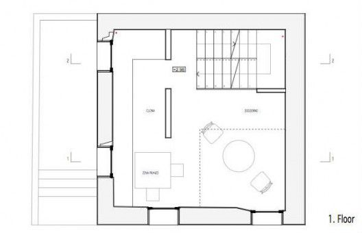 6 x 6 m, on 4 levels