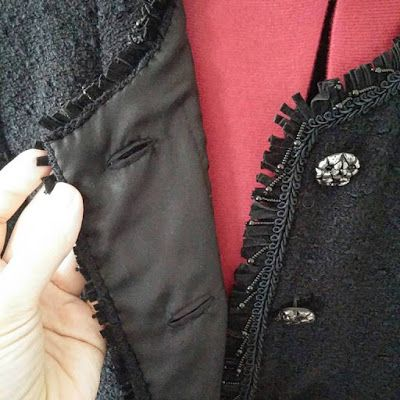 Couture et Tricot: The Couture French Jacket: the lining is finished, time to hand-sew the pockets – Jaqueta alta-costura inspirada em Chanel: o forro está acabado, passamos a coser à mão os bolsos, tany sews and knits, sewing tips, sewing tutorials, dicas de costura, passo-a-passo costura, tutoriel couture, paso a paso coser