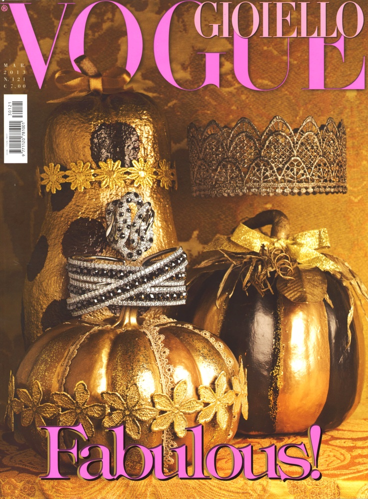 Utopia Elena.K Lace Headbands on the Cover of Vogue Gioiello.