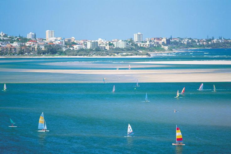 Golden Beach, Caloundra, Sunshine Coast Very popular weekend away- only an hour north of Brisbane. Wether you want to sunbake, swim, kite surf, take in the many markets, shop, hike, relax, spa. Its all here and much more.. pack your bag and swimmers and enjoy