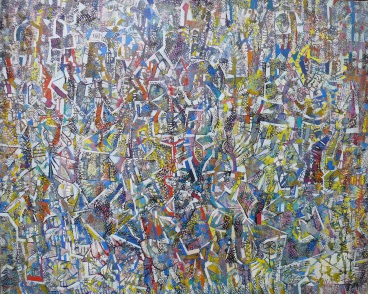 Rozsda Endre: A szimmetria megtört / Broken Symmetry 1969 - 100x82 cm - olaj, vászon I oil on canvas