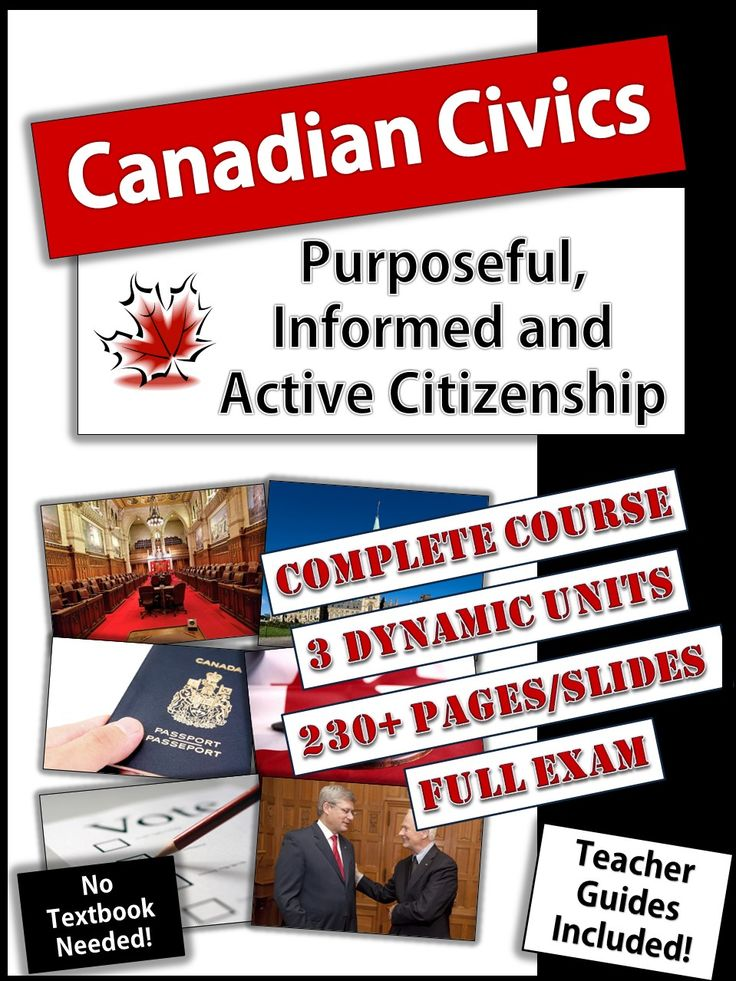 Answer keys now included! Civics can be a challenging course to teach! This course has everything you will need to successfully teach students about how our Canadian government works.