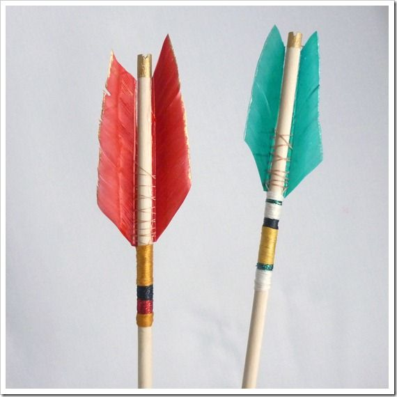 How to make a feather arrow-this would be awesome for the arrow hairsticks I saw the other day