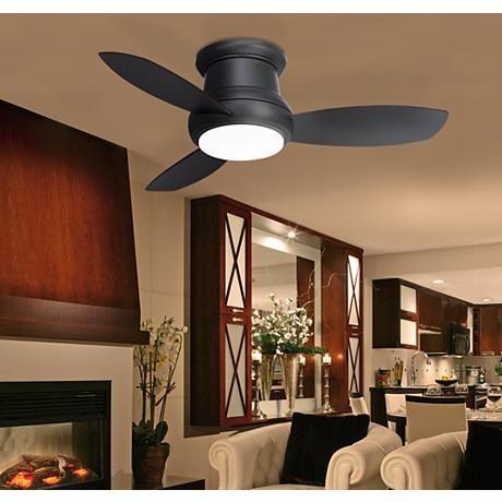 "44"" Minka Concept II Hugger Matte Black Ceiling Fan"