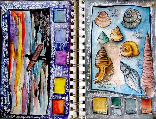 Alisa Burke...I like the way she has incorporated boxes into her design to record the colors used.