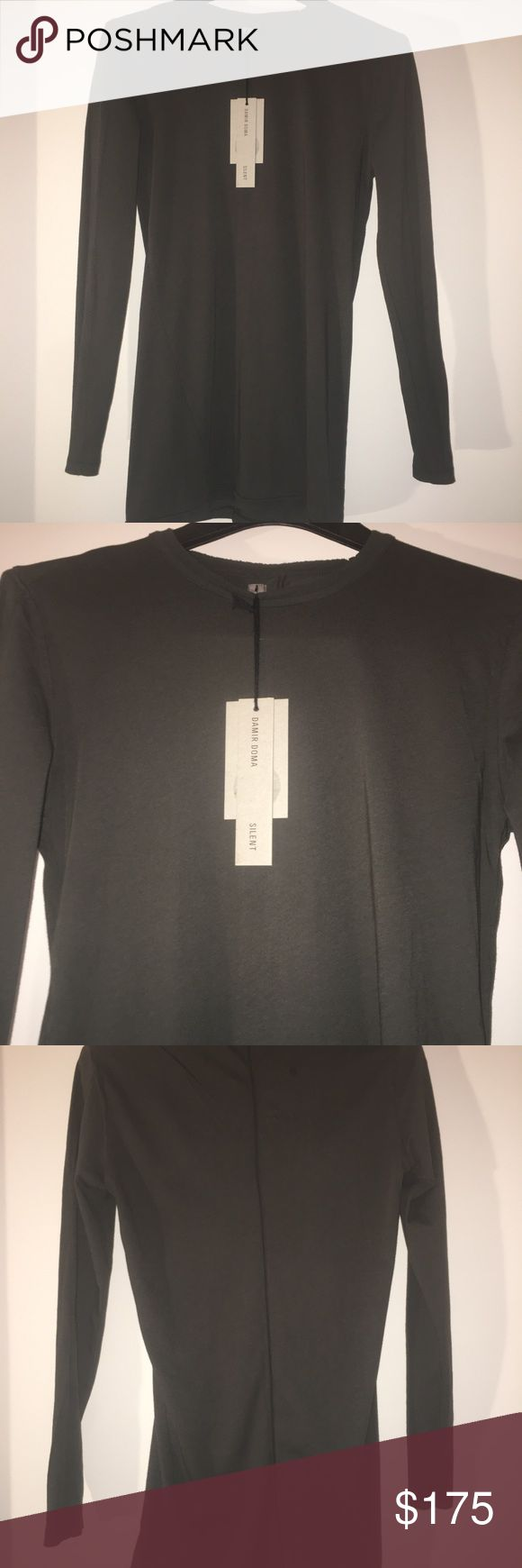 """Damir Doma silent men's t shirt , size -Xs Brand new Damir Doma Silent T-shirt with a long sleeves . Size -Xs. Color -khaki. Made in Portugal .100% cotton. Shirt fit very tight ( it's a style ) , included tag . Armpit to armpit -17"""". Length -29""""( from the middle of the shoulder down ). Sleeve length -25"""". All measurements were taken in the front without stretching the material .Please do not hesitate to ask questions or additional photos . Thank you Damir Doma Shirts Tees - Long Sleeve"""