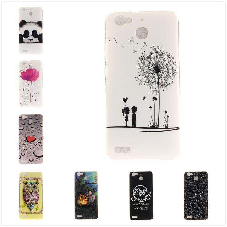 P8Lite Smart TPU Soft Back Cover Case For Huawei P8 Lite Smart Heart Flower Owl Sexy Girl Pattern Phone Celulars Coque Fundas