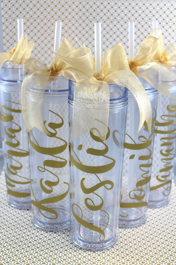 Skinny Personalized Tumbler - Wedding Party Acrylic Tall Tumbler - Party Favors Acrylic Tall Tumblers- Bridesmaid Tumbler - Custom Tumbler by My3LittleWishes on Etsy