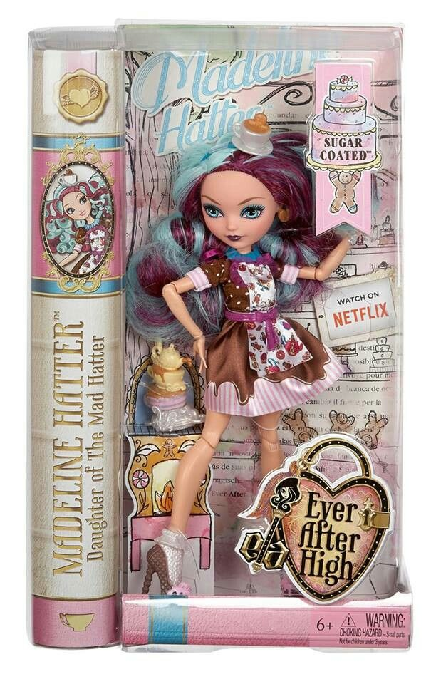 Ever After High Toy Box : Ever after high sugar coated madelinw hatter in box