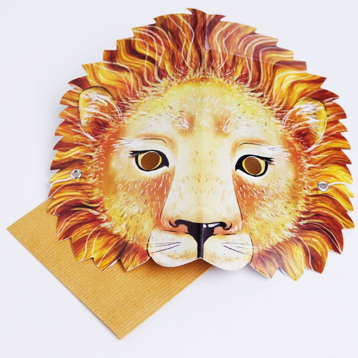 A handsome lion that rules the party.  Write your message on the back of the mask in the space provided. Then the person who receives it can wear it!
