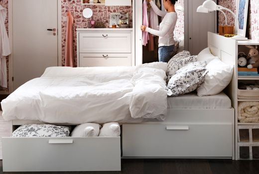IKEA beds with storage