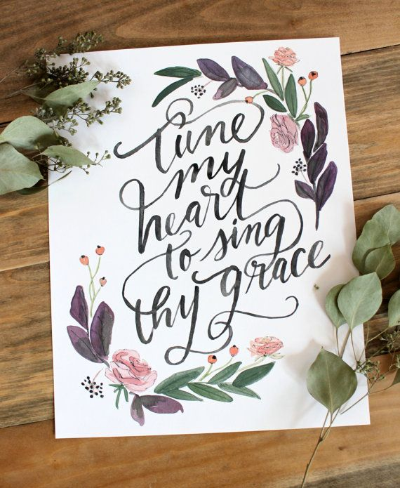 The second line from the beloved hymn, Come Thou Fount of Every Blessing, this print is appropriate for any time of year but is particularly