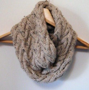 Cable Knit Infinity Scarf Knitting Pattern : 2 Knitting Patterns Oversized Cowl Infinity Scarf & by ...
