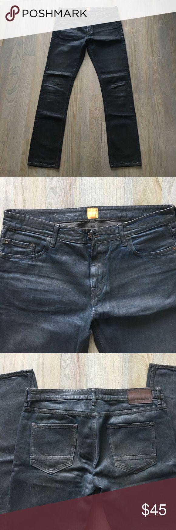 Men's Boss Orange Jeans Dark Brown Straight Leg Hugo Boss Orange Jeans. Special Treatment Finish. Worn a few times, like new. BOSS ORANGE Jeans Slim Straight