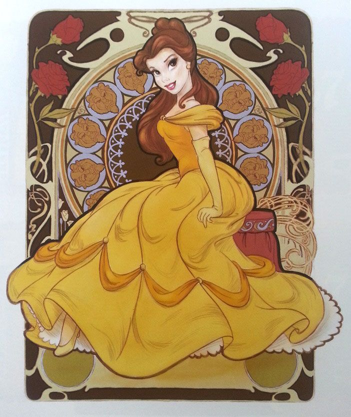 Belle by Dorota Kotarba-Mendez - Beauty and the Beast (The Art of the Disney Princess)