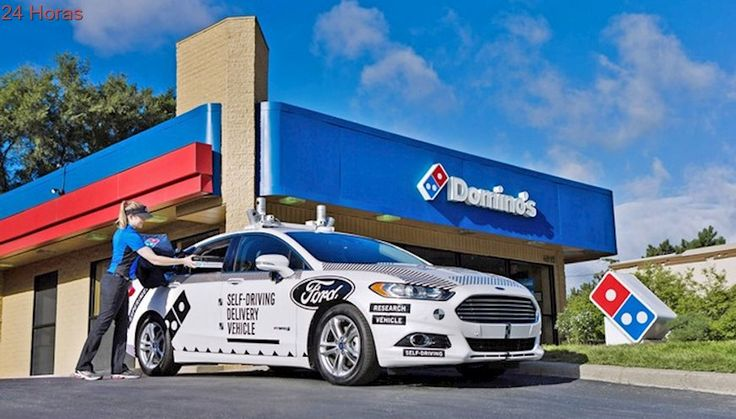 EE.UU: Simulan entrega de pizzas con vehículos autónomos