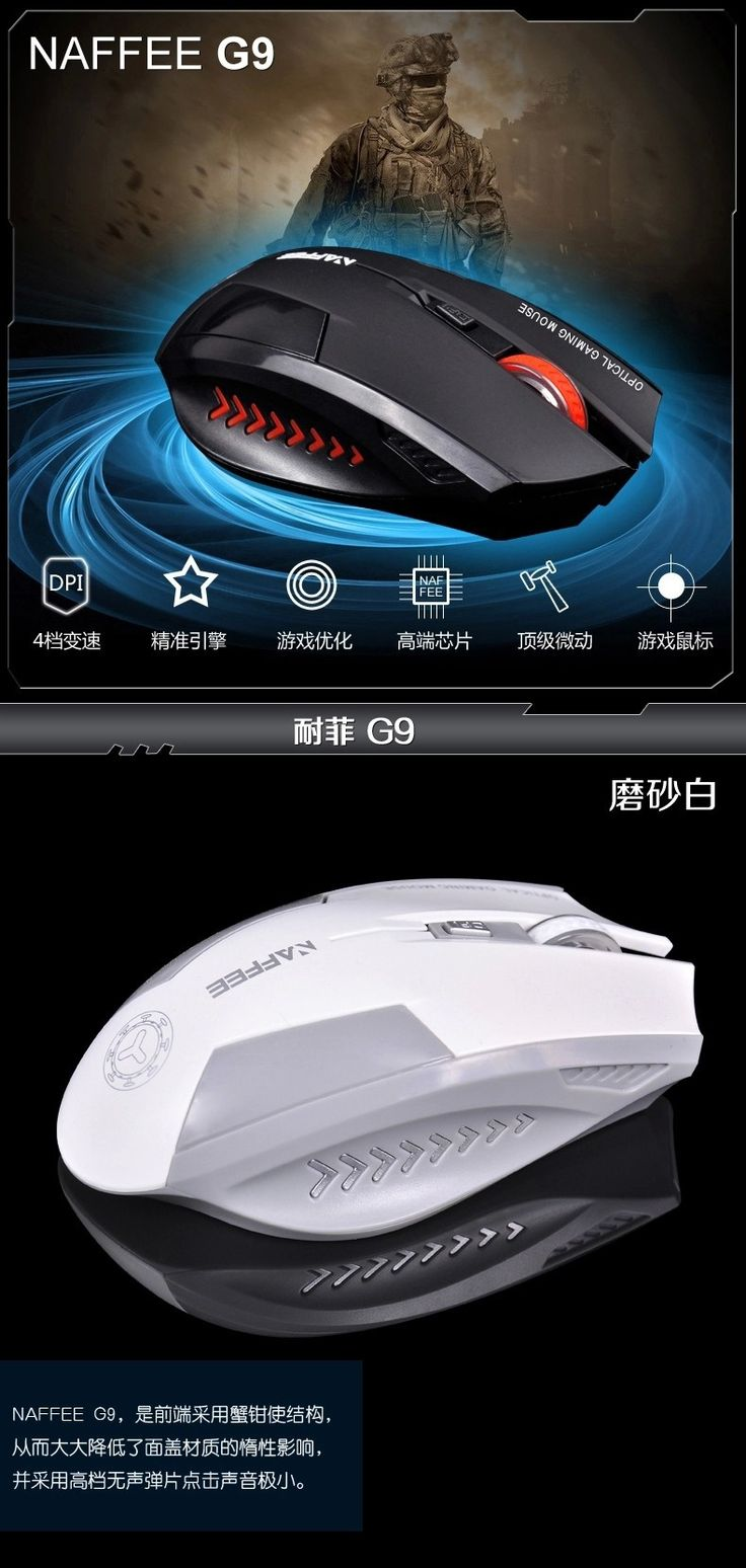 2015 new 2.4G wireless mouse gaming mouse, silent, high-end atmosphere - http://www.pcbuild.guru/products/2015-new-2-4g-wireless-mouse-gaming-mouse-silent-high-end-atmosphere/