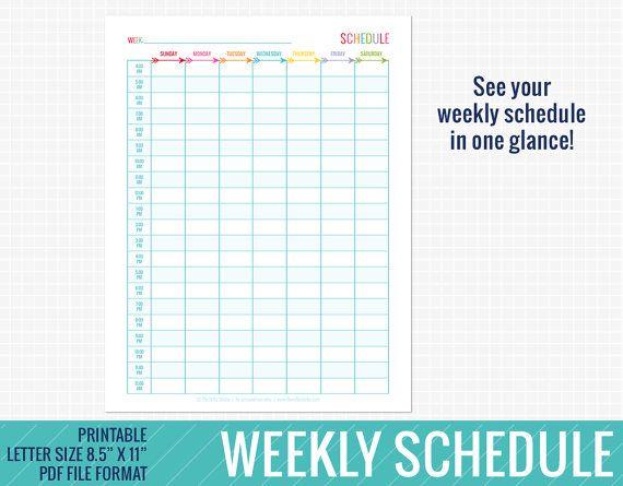 Best 25+ Week 8 schedule ideas on Pinterest Diet schedule, Half - weekly itinerary template