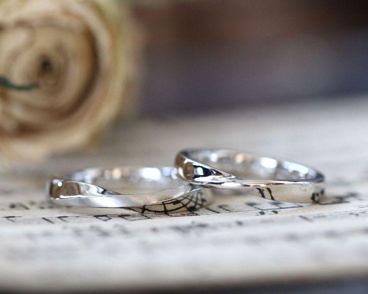 ひねりのフォルム。プラチナでお作りした結婚指輪 [marriage, wedding, bridal, ring,Pt900,オーダーメイド,マリッジリング,イズ]