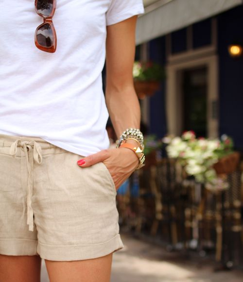 Best 25  Linen shorts ideas on Pinterest | Women's minimal style ...