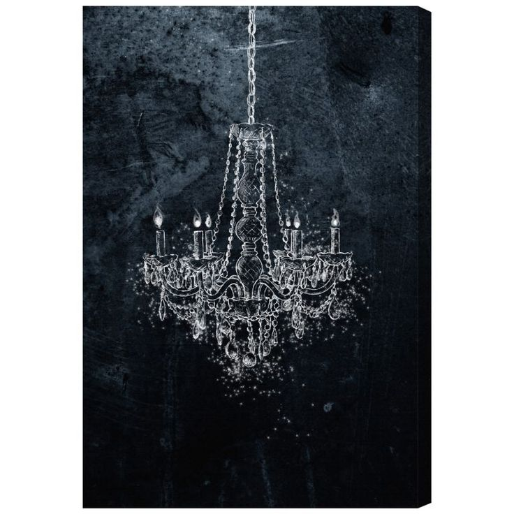 Showcasing An Eye Catching Chandelier Design This Chic Canvas Print Perfectly Pairs Baroque Style Decadence With Minimalist Modern Art Flair