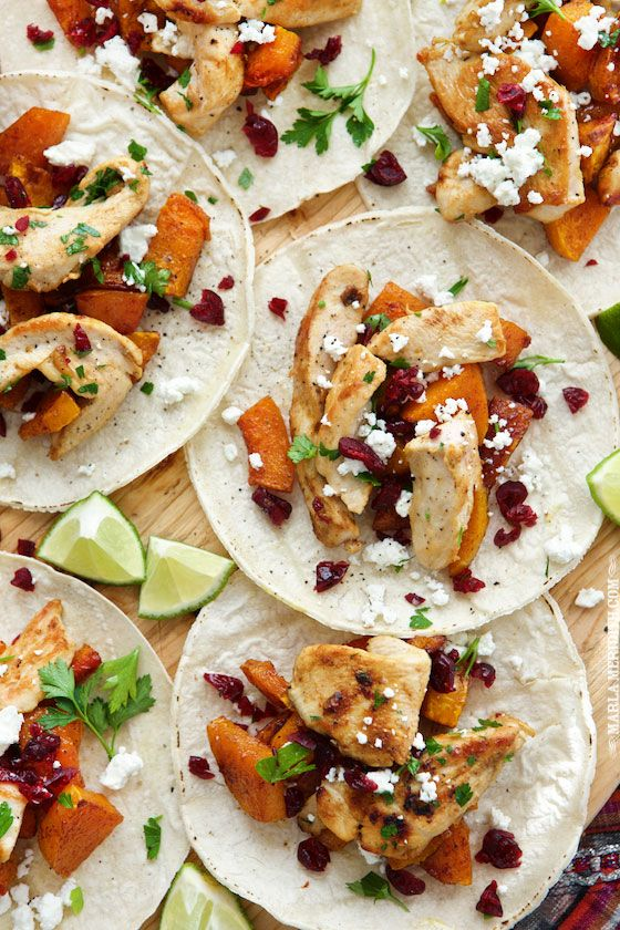 Roasted Butternut Squash & Turkey Tacos | The perfect recipe for those Thanksgiving leftovers! FamilyFreshCooking.com: