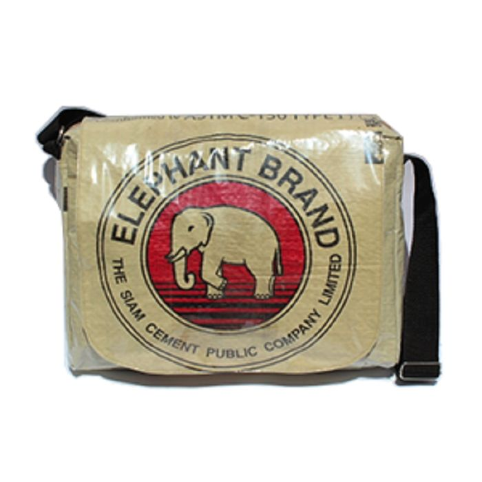 Elephant Brand Recycled Deluxe Cement Messenger Bag | The Elephant Emporium
