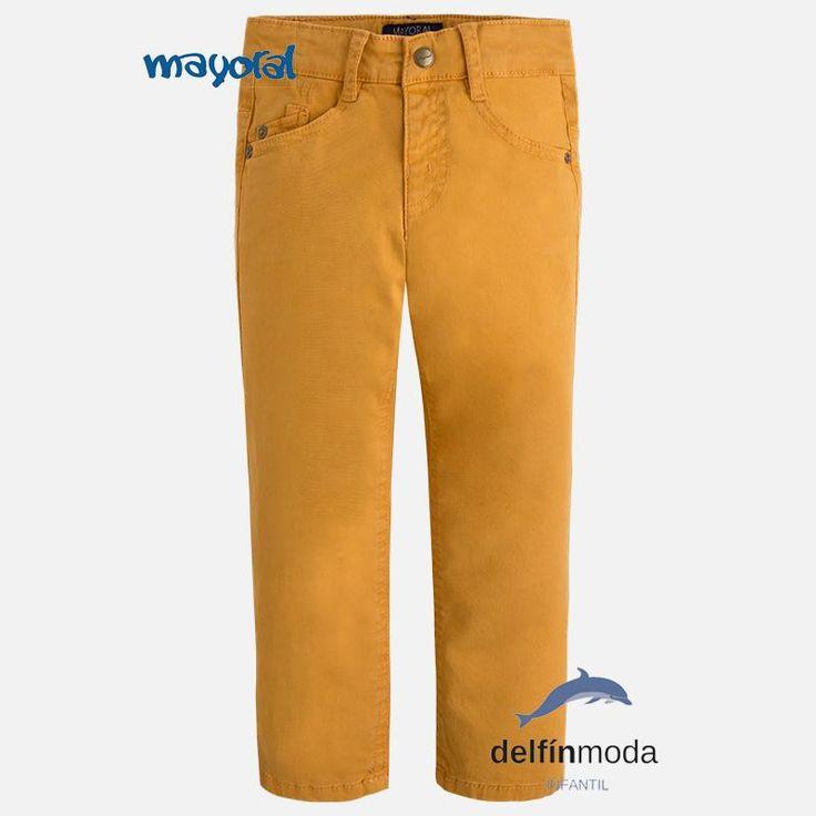 Pantalón largo para niño MAYORAL sarga color curcuma