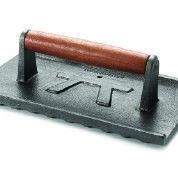 Stekvikt och grillpress i gjutjärn