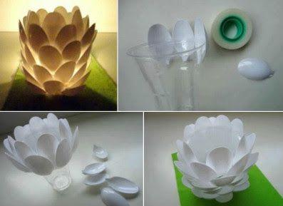 10 Decoraciones que Puedes Realizar con Cucharas de Plástico