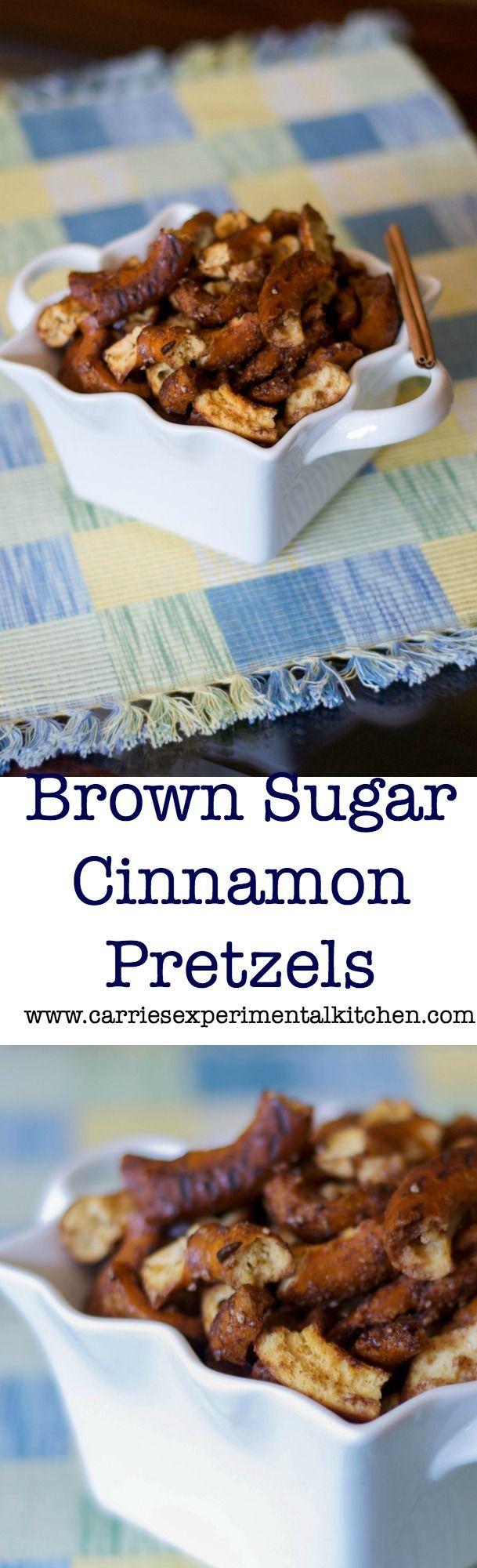 Brown Sugar and Cinnamon Pretzels